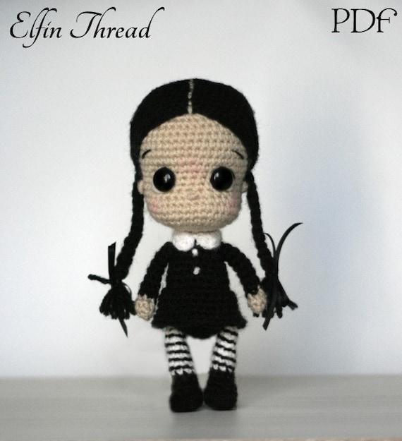 Elfin Thread Wednesday Addams Chibi Doll Amigurumi PDF | Etsy