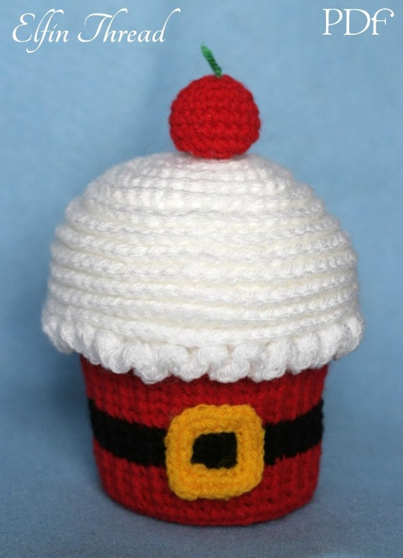 Elfin Thread Giant Christmas Cupcake with Gingerbread Man   Etsy