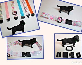 Ribbon Safety collar for dog, Custom fit to dog's neck, Tag collar, Break away Indoor collar, Pull apart buckle, Separates at 8lb pressure