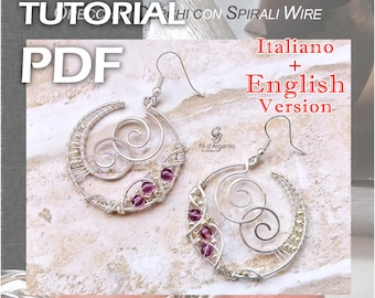 Tutorial hoops earrings with spirals Wire - pdf - ENGLISH Version