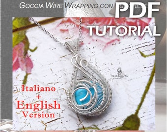 Tutorial Drop Wire Wrapping with Turquoise - pdf - English Version
