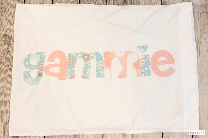 Personalized Pillowcase  camp pillowcase  name pillowcase flower girl gift
