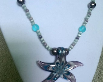 Passionate Purple Starfish Necklace