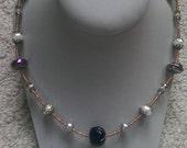Metallic Lampwork Beaded Necklace
