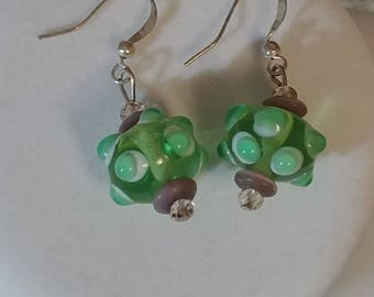 Lime Bauble Bash Earrings