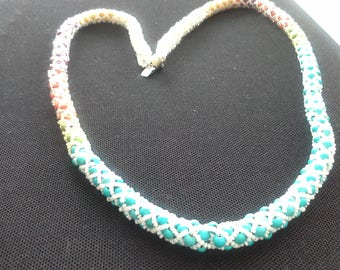 Multi Colors Netted Necklace