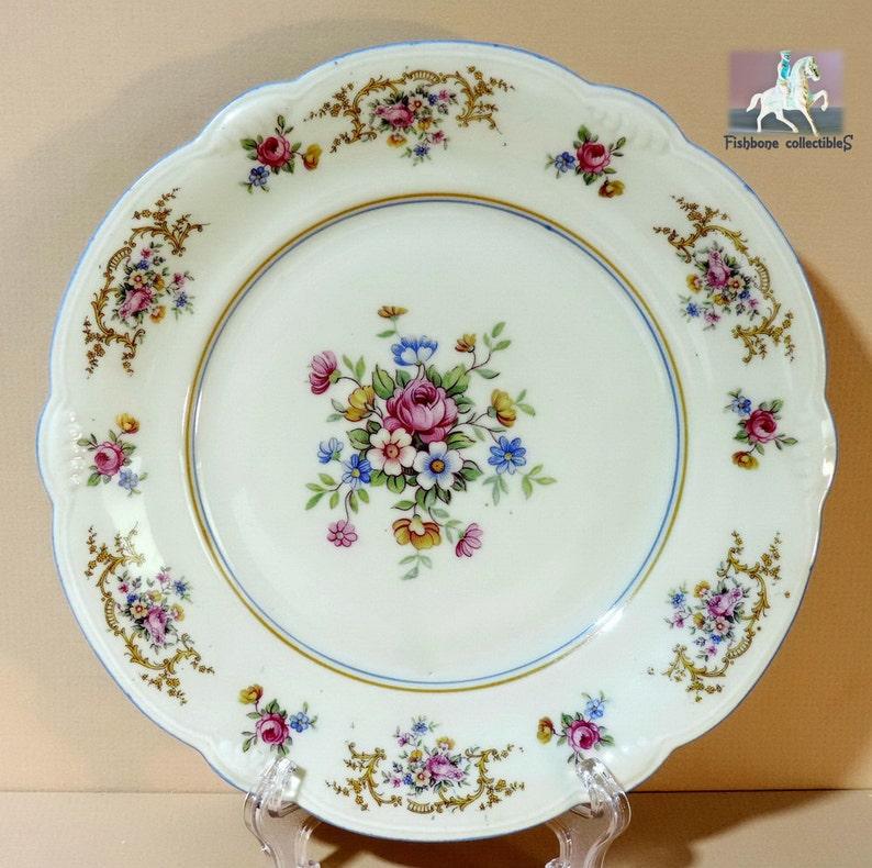 Coquillage Coquille 10x9,4 cm Limoges porcelaine de Paris APILCO platine