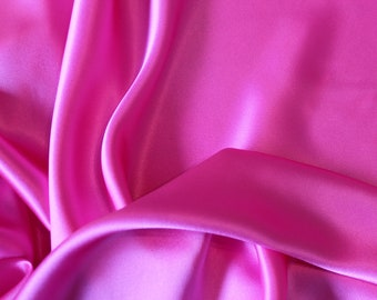 Pink Silk Charmeuse, Silk Fabric, Fabric by the Yard, Silk Charmeuse Fabric