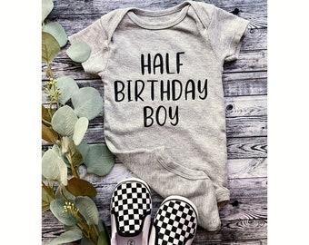 Half Birthday Boy Onesie