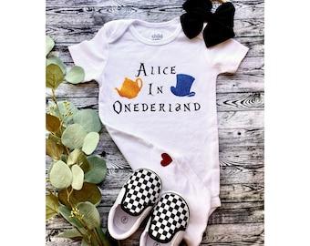Custom Alice In ONEderland Onesie