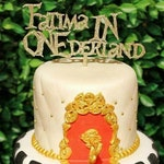 Alice in ONEderland Themed Cake Topper