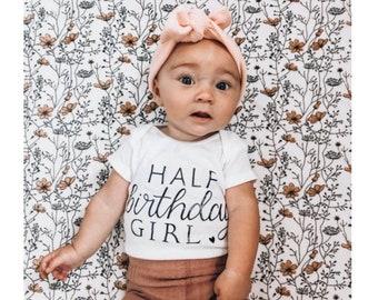 Half Birthday Girl Onesie