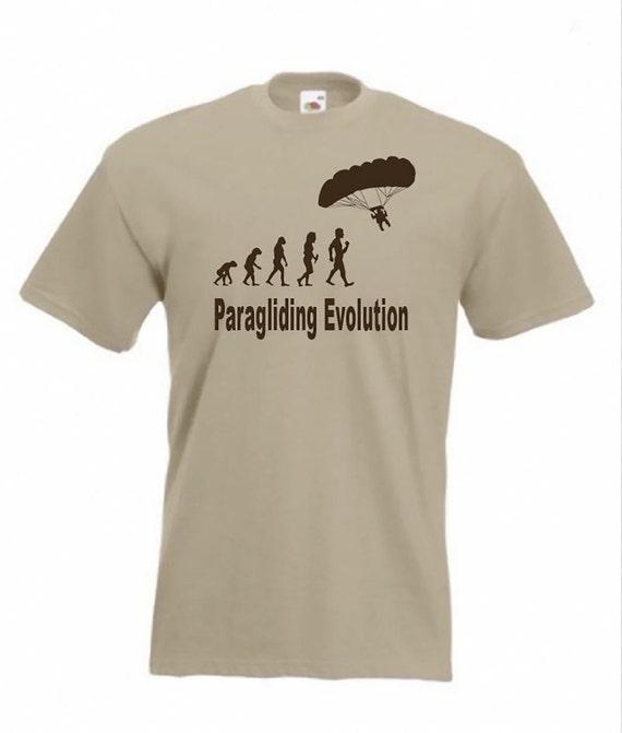 Evolution Of Paragliding Paraglider Gift Ladies T Shirt  Size S-XXL