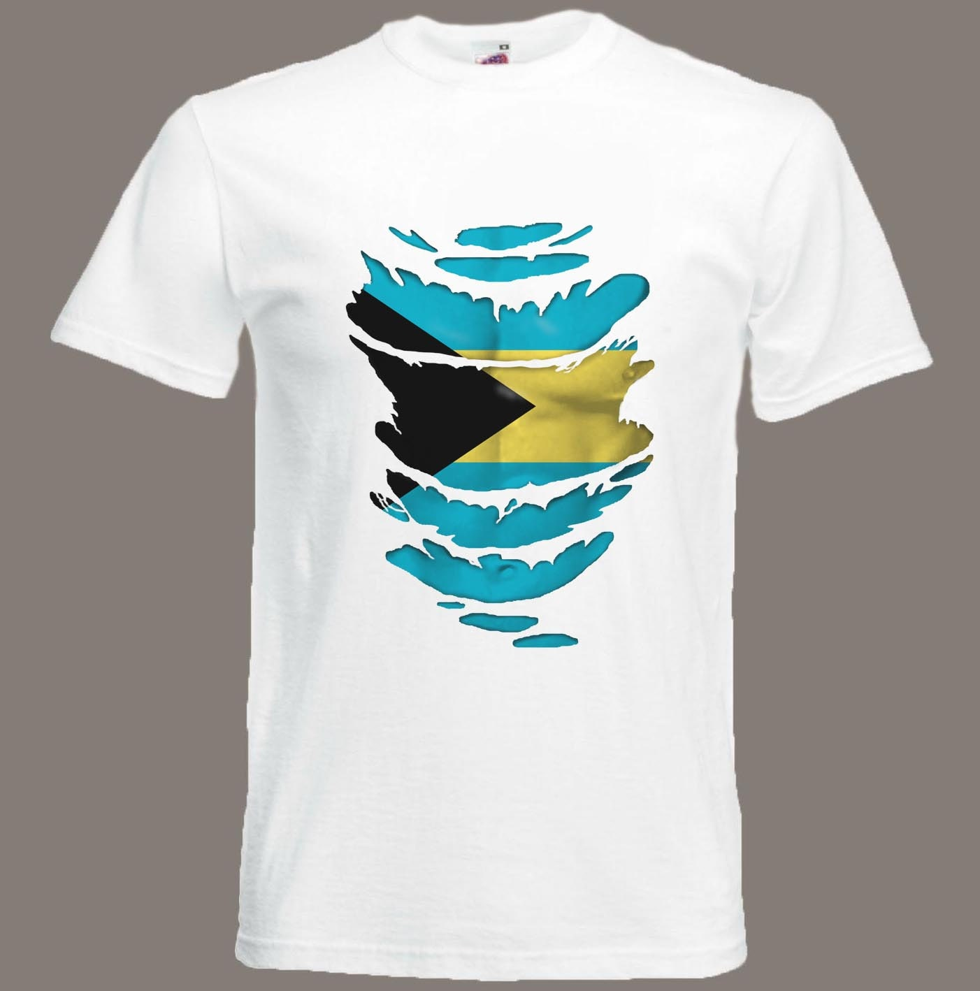 Bahamas Flag T-Shirt  see Muscles through Ripped T-Shirt in in T-Shirt all sizes ea880e