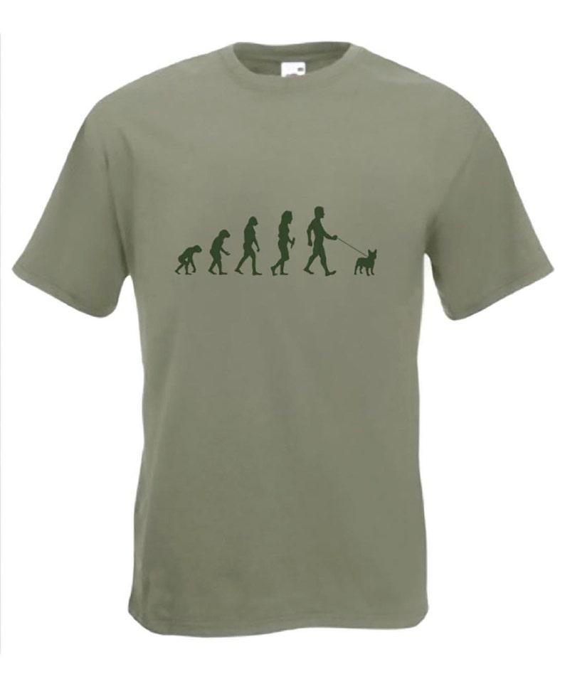 Evolution To French Bulldog t-shirt Funny Dog T-shirt sizes Sm image 1