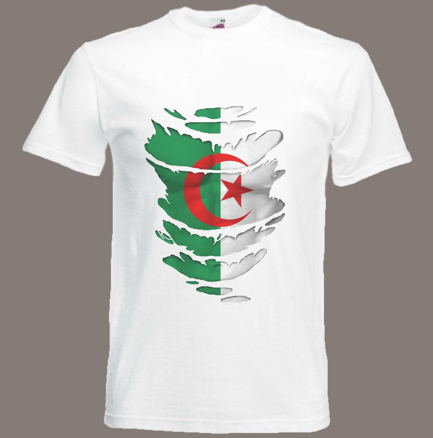 Algerian Flag T-Shirt  Muscles see Muscles  through Ripped T-Shirt Algeria in all sizes b5f3c5