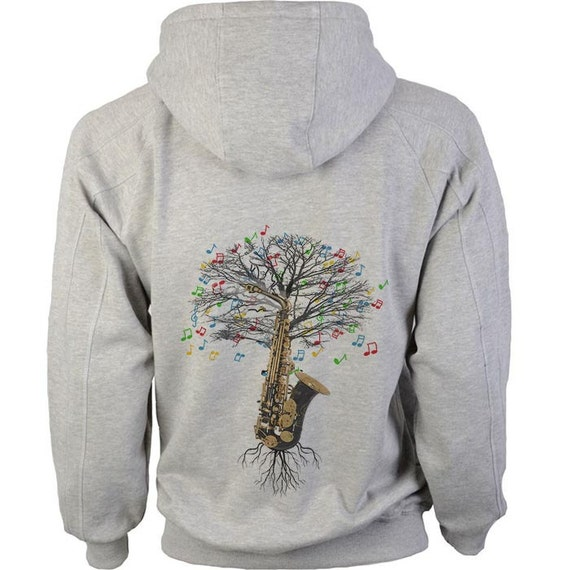 a9d6412e Saxophone Hoody Musical Tree in sizes up to XXL | Etsy