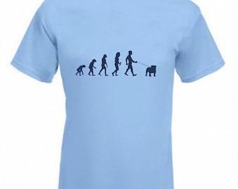 Evolution to Bulldog t-shirt Funny Brittish Bull Dog T-shirt sizes Sm To 2XXL