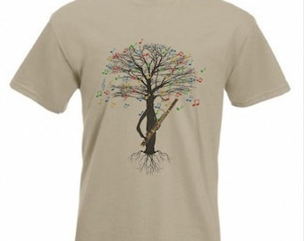 Bassoon T-shirt Musical Tree bassoonist woodwind in all sizes