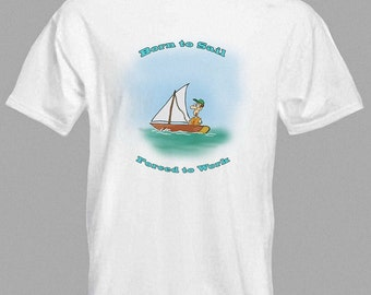 Cartoon Sailing T-shirt Sailing Boat in all sizes