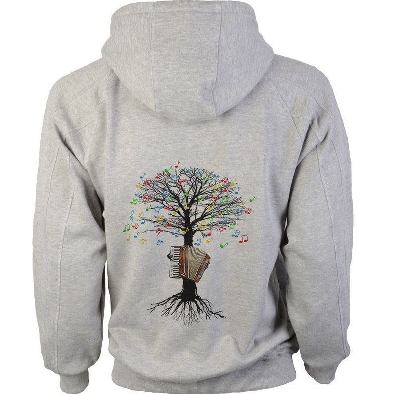 Accordion Hoody Musical Tree Accordionist in sizes up to XXL image 0