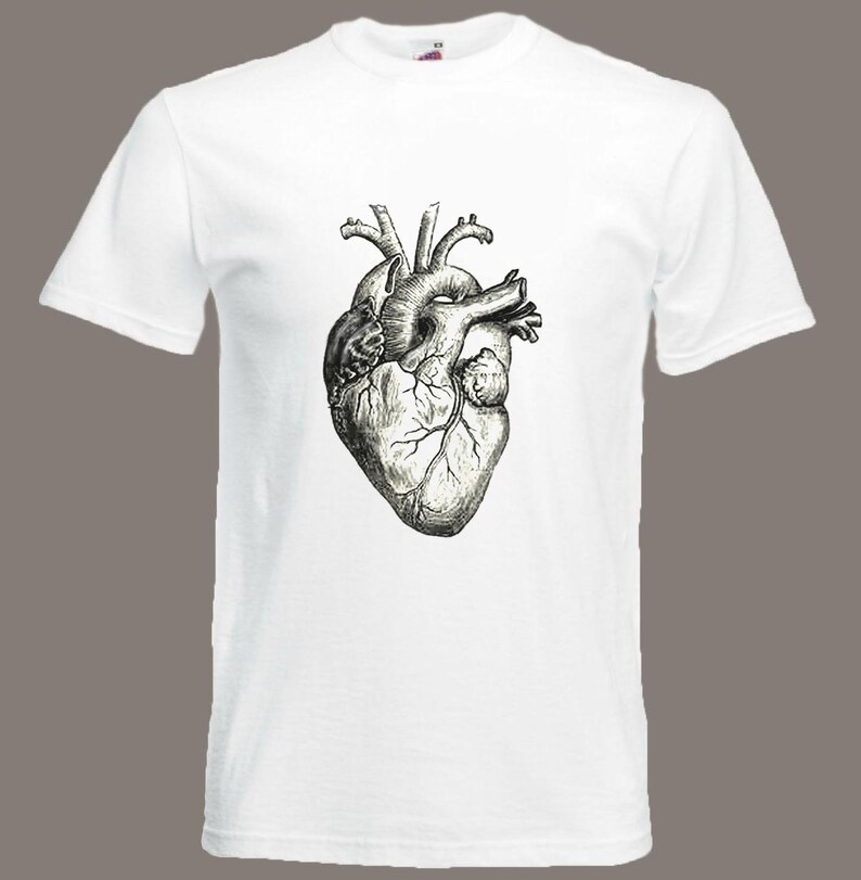 Heart t-shirt Vintage Anatomical Heart Biology Anatomy Medical image 0