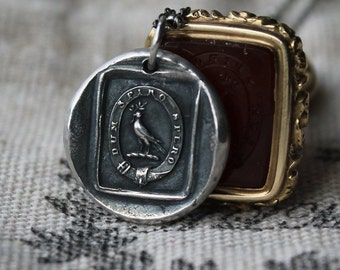 Militaria Engraved Antique George Iii Solid Silver Fob Seal