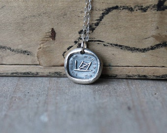 I am quite unhinged-Gate wax seal fine silver charm