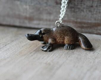 Platypus ceramic necklace