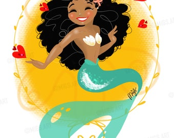 Lola Mermaid Art