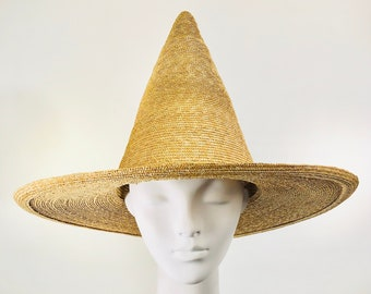 Natural Straw Witch Hat