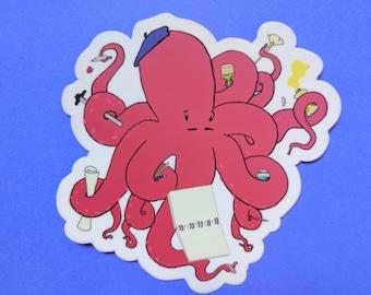 Art the Octopus Vinyl Sticker