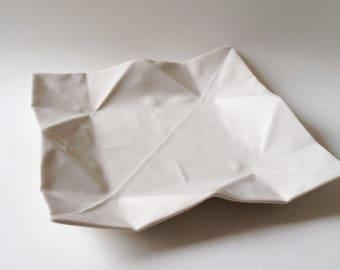 Origami Porzellan Teller  Klein