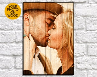 Girlfriend Gift Anniversary For Birthday Gifts Personalized Farmhouse Decor Custom Picture On Wood Photo