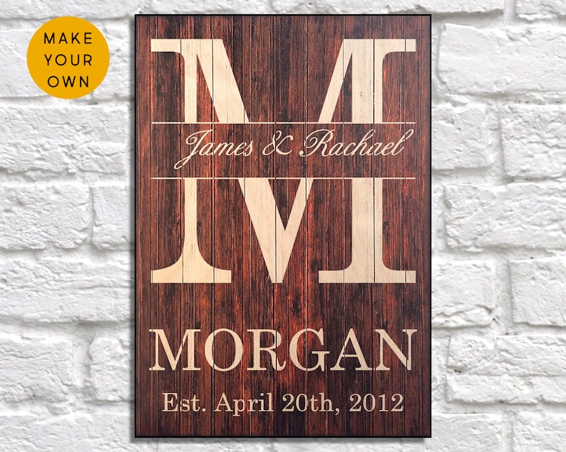 Personalized wedding gift for Couple Custom Wedding signs image 0