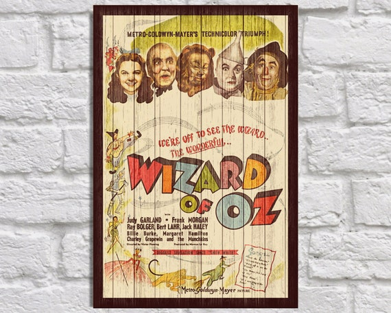 VINTAGE 1939 THE WIZARD OF Oz A2 POSTER PRINT