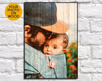 Fathers Day Gift from Daughter Personalized gifts for Dad Gift Dad Birthday gift Personalized Fathers Day Gifts From Son Wood Photo Frame