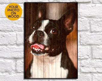 Pet Memorial Gift Dog Memorial Gift Custom Pet Portrait Custom Dog Portrait Pet Memorial Frame Wood Portrait From Photo Gifts Pet Gifts
