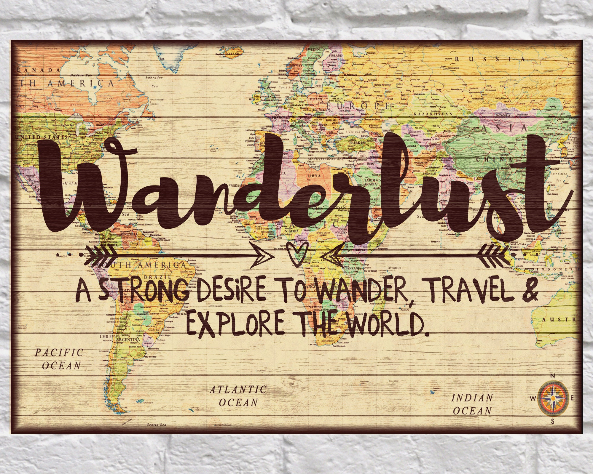 Wanderlust wood signs Wood wall art Travel poster art Travel | Etsy