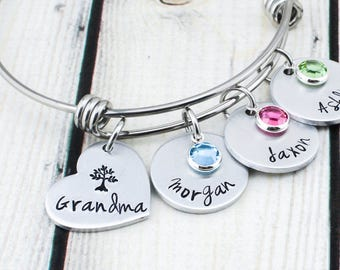 Grandmother Jewelry - Grandmother Gift for Mom - Grandma Bracelet for Women - Mothers Day Gift for Grandma - Grandma Gift for Women