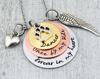 Custom Pet Memorial Jewelry - Dog Memorial Necklace - Pet Loss Gift- Cat Memorial Jewelry - Dog Remembrance Necklace - Loss of Dog Jewelry
