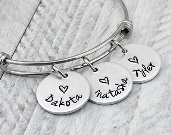 Mothers Day Gift for Her - Personalized Bracelet for Women - Personalized Jewelry - Custom Bracelet - Mothers Day Jewelry - Gift for Wife