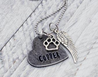 Custom Pet Memorial Jewelry - Dog Memorial Necklace - Cat Memorial Jewelry - Pet Loss Gift - Pet Remembrance Necklace - Dog Loss Jewelry