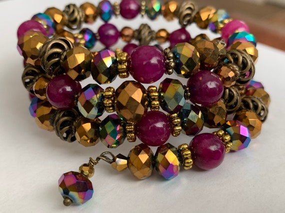 Purple Wrap with Crystal Bead