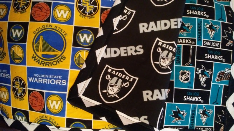 Raiders Super Bowl Party Las Vegas Birthday Gift Home Decor Anniversary Dinning room Oakland Black and White Rectangular Placemats