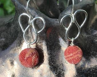 Wave silver earrings. Swirl silver earrings. Corel silver earrings. swirl silver earrings