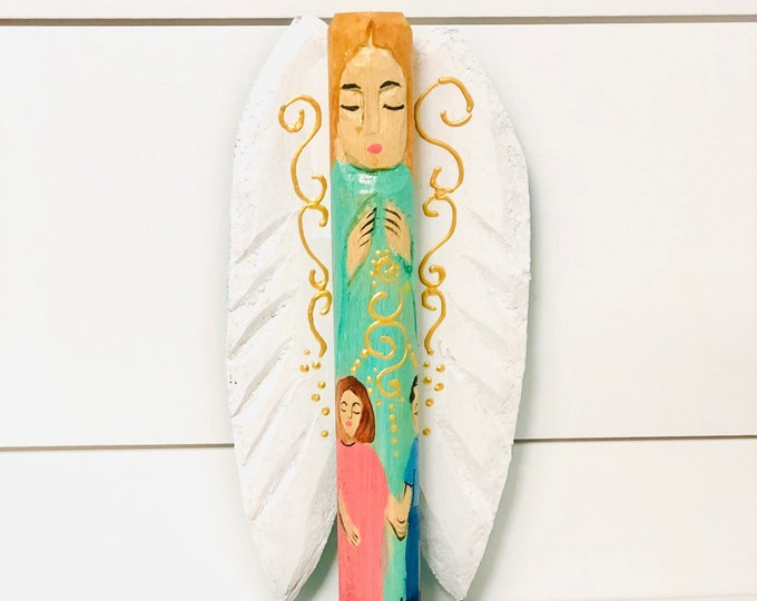 Guardian Angel   Handmade and Hand-painted in Venezuela. Spectacular details. Aprox 8.5'