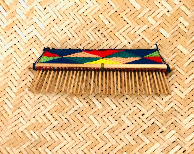 Cotton-wrapped cane comb Etnia Pemon Amazonas Venezuela