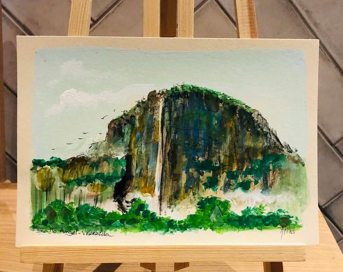 Angel Falls  #2   By G. Armijo. Original Paint. Unframe.