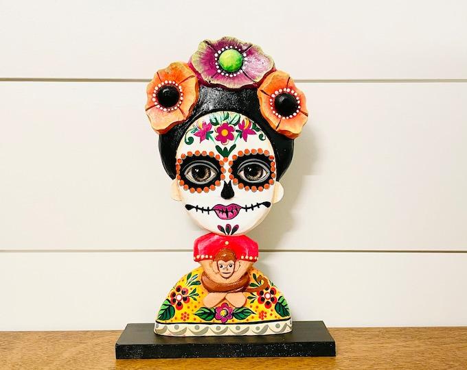 Katrina CABEZONA handmade in Venezuela . Wood Statue. 10.5  inches x 6.5 inches